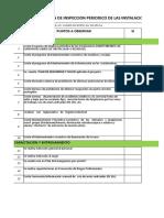 Plan de Inspección y Control Periódico Nave de Clasificación y Reciclaje