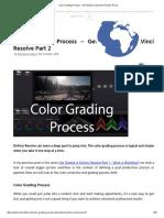 Color Grading Process - Get Started in DaVinci Resolve Part 2