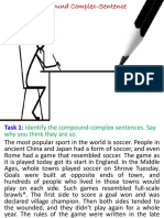 5. Combining Sentences in English. Compound Complex Sentence