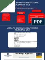 VASCULITIS INFLAMATORIAS INFECCIOSAS CAUSANTE DE ICTUS.pptx