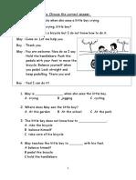 English Final Exam P1 Yr 1 SJK