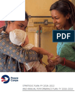 Peace Corps Strategic Plan 2018-2022-Annual Plan 2019