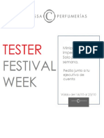 Tester Festival Week - Cortassa Perfumerias
