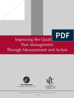 Improving the Quality of Pain Management Through Measurement and Action
