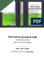 336258615 Noul Cod de Procedura Civila Vol I Art 1 455 2016