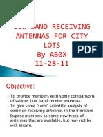 Low Band Receiving Antennas-1