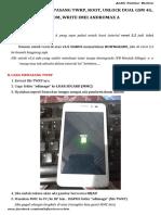 Cara Downgrade Pasang Twrp Root Unlock Dual Gsm 4g