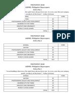 Photofest 2018 Score Sheet