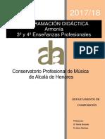 Programación Armonía EP 2017-18 (CPM Alcalá de Henares)