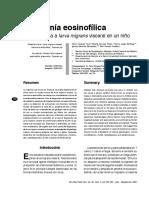 Neumonía eosinofílica. Toxocara canis