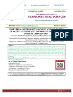 ANALYTICAL METHOD DEVELOPMENT AND VALIDATION OF ACETYLCYSTEINE AND TAURINEIN TABLET DOSAGE FORM BY USING RP-HPLC