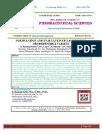 FORMULATION AND EVALUATION OF LAMOTRIZINE ORODISPENSIBLE TABLETS