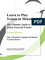 Volume 11 the Advanced Topspin Forehand