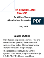 Lecture1, Process Control and Analysis