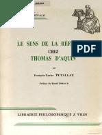 Le Sens de La Reflexion Chez Thomas D'Aquin - Patallaz