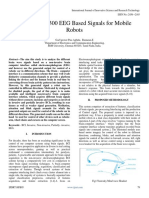 Deploying P 300 EEG Based Signals for Mobile Robots