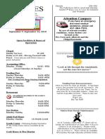 9-Lines Newsletter -- September 9 to 16, 2010