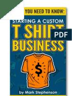 Starting a Custom t Shirt Business Guide