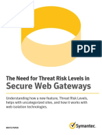 Need for Threat Tisk Levels in Secure Web Gateways En