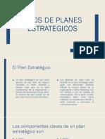 Tipos de Planes Estrategicos