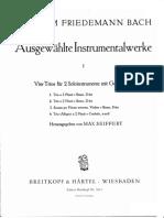 Trio D Dur F 48 Wilhelm Friedmann Bach