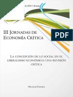 Pagura, La concepción de lo social en el liberalismo económico