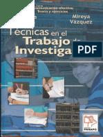 Tecnicas en El Trabajo de Investigacion Reduc
