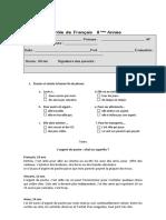 Teste Francês 8 Ano - Argent de Poche