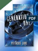 Los Legados Renacidos de Lorien 1. Generación Uno