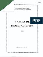 Tablas de Bioestadistica