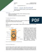 Lab 1 Leyes de Kirchhoff y Ley de Ohm