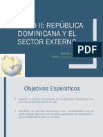 Unidad II- República Dominicana y El Sector Externo
