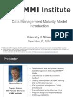 CMMI Data Management Maturity Model Introduction