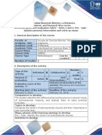 Activities Guide and Evaluation Rubric - Pre - Task - Update Personal Information and Write an Essay
