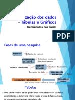 Aula 2 Organização Dos Dados – Tabelas e Gráficos