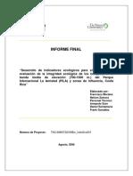 Desarrollo de indicadores ecológicos para el monitoreo y evaluación de la integridad ecológica de los bosques - Morales y otros