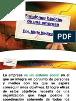 2.- Funciones Basicas de Una Empresa
