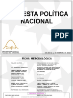 ENCUESTA POLÍTICA NACIONAL MORENA FEBRERO 2018