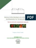 Plan de Manejo Organico en Invernadero Austado 2,592 m2