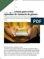 Seis Aplicaciones Para Evitar Episodios de Violencia de Género