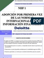 Adopción Por Primera Vez NIIF