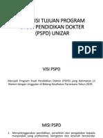 Visi Misi Tujuan Program Studi Pendidikan Dokter
