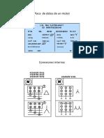 Placa de Datos de Un Motor