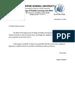 Letter for SA