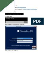 How to Install Windows Server 2012