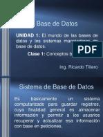 Clase 1 Base de Datos