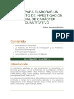 Guía Para Elaborar Un Proyecto de Investigación Social de Carácter Cuantitativo