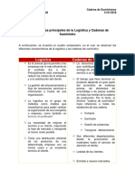 Características Principales de La Logística y Cadenas de Suministro