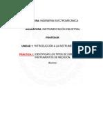 reporte de instrumentacion industrial