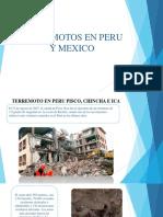 Terremotos en Peru y Mexico